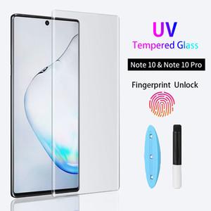 UV vetro temperato la pellicola per Samsung Galaxy Note 20 S20 S10 Inoltre S10E S9 S8 completa curva dello schermo Ultra protezione per Samsung Note 10PLUS 10 9 8