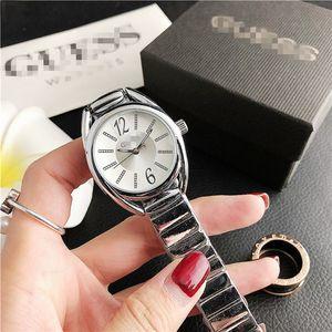 2020 New Fashion Style Women Watch Full diamond Lady Steel Chain wristWatch Luxury Quartz clock High Quality leisureGUESSdesigner watch