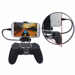 Game Controller Handle Clip Holder Mobile Phone braçadeira com OTG cabo para PS4