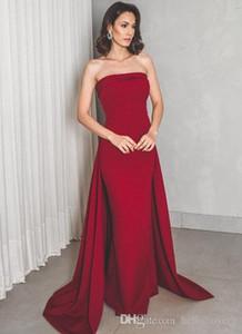Sheath Burgundy Elegant Formal Evening Dresses Gowns Plus Size 2019 Abiti da sera Vestidos elegantes Party Prom Dresses