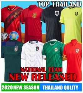 2020 EURO Irlande du Nord Ecosse Suisse Pays de Galles Soccer Jersey Autriche Muller Hongrie Italie Suède Belgique Espagne Russie Tchèque fOOTball