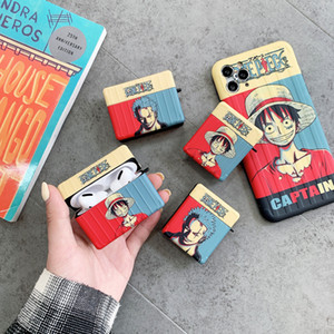 One Piece Luffy&Zoro For Apple Airpods Pro Case Japanese Captain Airpod Protector Cover Earpod Case Anti-drop for Airpods Pro Case