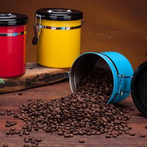 Sealed Tank Metal Storage Box Tea Coffee Beans Dried Fruit Preservation Tanks Exhaust Valve Sealed Tanks Pot Sealer Box Food Cans