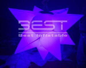 düğün / parti için Sahne Dekorasyon Şişme Festivali Sahne Dekorasyon LED Şişme Yıldız Cazip şişme LED aydınlatma asılı yıldızı
