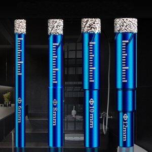 Tools Diamond Coated Drill Bit Set 6 810 12 14mm 16mm Tile Marble Glass Ceramic Hole Saw Marble Cutter Drilling Bit Power Tool