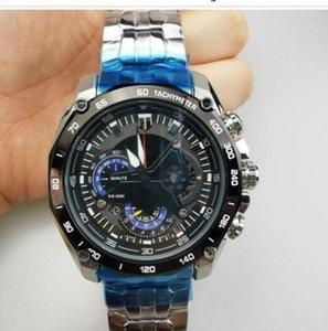 Vente chaude EF-550RBSP-1AV Nouvel EF-550RBSP-1A EF 550RBSP 550 Montre Homme Montre-bracelet analogique pour homme en acier inoxydable