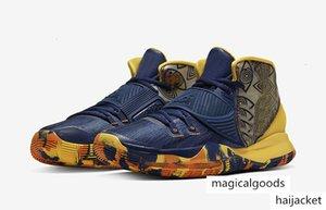 مصمم 2020Authentic الرجال Kyries 6 قبل الحرارة رياضة Kyries 6 ميامي هيوستن شفيت العالم لكرة السلة كرة السلة أحذية lddstore