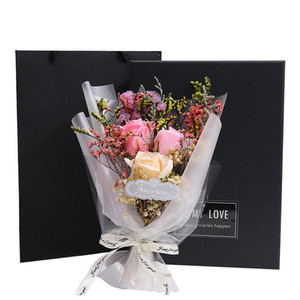 New Valentine's Day Rose Soap Flowers Carnations Artificial Flower Christmas Gifts Valentine Gifts Party Home Room Decoration