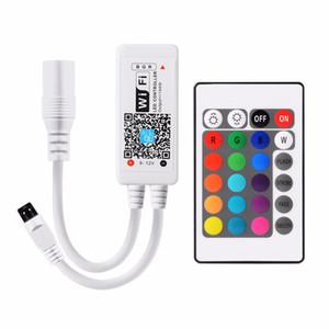 RVB RGBW LED contrôleur DC5-24V bande Wifi Contrôleur Lumière Lampes Couleur Mini Wifi Distants Support Voice App Phone Control