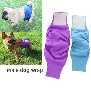 Bandas del vientre OhBabyKa lavable perro masculino pañales de tela para perros con estilo de perro masculino Durable Wraps de Premium perrito Pañales Male Tamaño S M L