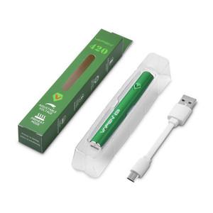 Authentique batterie de préchauffage VAPEN 420 420mAh à tension variable réglable avec charge micro USB pour cartouches 510 Vape