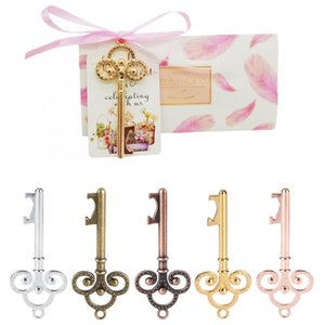 50pcs lot Metal Key Beer Bottle Opener Wine Ring Keychain With Sugar Box Wedding Party Favors Gifts For Guests Keyrings