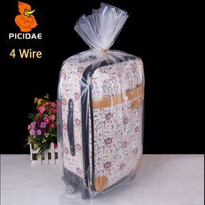 4 fios 14x20 cm PE embalagem Fosco saco de Armazenamento de plástico Transparente bolso Aberto plana à prova de poeira colcha de brinquedo boneca de brinquedo Congelado forro cosmético