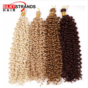 Encaracolado Extensões de Cabelo de Crochê Fios De Seda Ombre Cabelo Trança Sintética A Granel Cabelo Boêmio Para Tranças De Crochê