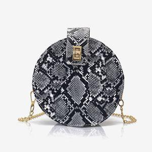Handbags Women Bags Designer Fashion Round Serpentine Small Female Crossbody Bag High Quality Metal Hasp Chain Lady Totes