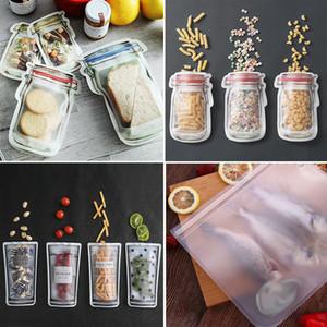 Snack Food 4pcs vedação saco de armazenamento reutilizável Frigorífico fresco Storage Bag Fruit Meat Moisture-Proof Ziplock Cozinha Organizer