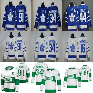 Toronto Maple Leafs Jersey 31 Frederik Andersen Jersey 88 William Nylander 34 Auston Matthews 91 John Tavares Hockey Jersey Stitched Mens