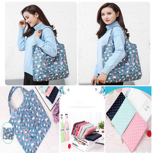 Durable Foldable Shopping Bags Waterproof Reusable Home Storage Bag Eco Friendly Shopping Bag Tote Bags Colorful Grocery bag DA025