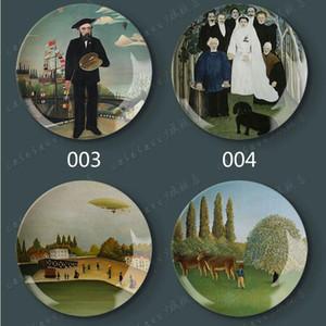 8 pulgadas famoso 100% Nueva marca Art óleo decorativa plato de porcelana pintura al óleo decorativos Inicio Platos de cerámica de decoración de cerámica