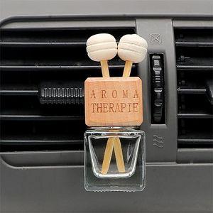 Car Air Freshener de suspensão Frasco de vidro para óleos essenciais Car Perfume garrafa de cristal Car-styling Auto ornamento do pendente EEA1294
