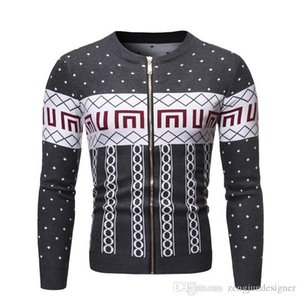 Mens Autumn Desinger Cardigan Sweater Long Sleeve Floral Print Homme Clothing Fashion Style Winter Casual Apparel
