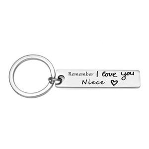 Ricordate I Love You migliore Portachiavi Gioielli Idea regalo per lei lui amico e membro della famiglia