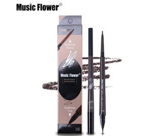 Música Flor Marca Ojos Maquillaje Mate Doble Cabeza Eyebrow Pencil + Liquid Eyebrows Tint Waterpoof Cosmética Natural de larga duración
