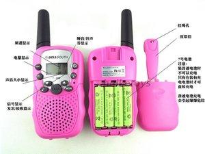 Três quilômetros Faixa Dois Way Mini Walkie Talkies para caminhadas das crianças das crianças ao ar livre Camping Radio eletrônicos da voz Interphone Toy