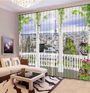 العمود الروماني ومبنى طويل القامة Daxia Modern City Luxury Blackout 3D ستارة النافذة لغرفة المعيشة غرفة نوم الستائر كورتينا تخصيص حجم