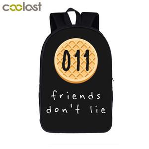 Amici Dont Lie / Demogorgone / Demodog zaino delle ragazze dei ragazzi dei bambini Sacchetti di scuola per i bambini Fandom Borse Book Laptop Backpack