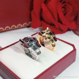 Леопард кольцо бренд классический мода ну вечеринку ювелирные изделия для женщины кольца Роуз Золотой мяч банкетный Пантера роскошный черный леопард мужской хорошо продаются