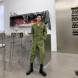 мужской дизайнер осень нишу дизайн моды ленивый литературный большой карман персонализированный комбинезон