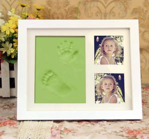 Non-Toxic Детские Handprint Footprint Выходные данные Комплект для младенцев Сувениры Кастинг Новорожденный Footprint чернил Коврик для новорожденных Клей игрушки Подарки Keepsakes Пылезащитно P