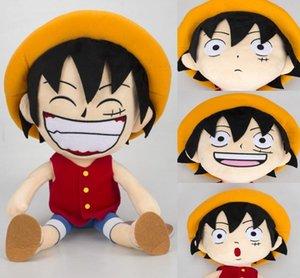 Anime Tek parça Peluş Oyuncak Monkey D. Luffy Hasır Şapka Doll Yumuşak Doldurulmuş Oyuncaklar Hediyeler