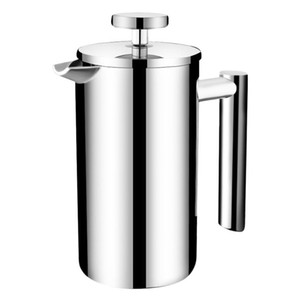 Prensa Cafetera acero inoxidable Cafetera de espresso Pot portátil de gran capacidad Manual Cafetera Contenedores