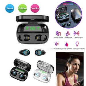 Mikrofon 3500 mAh Güç Bankası Mini kulaklıklarla tws Bluetooth 5.0 Kablosuz Kulaklık S11 Dokunmatik Kontrol Kulak Kulaklıklar