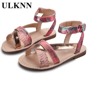 ULKNN Children's Shoes Girls Sandals Roman Gladiator Soft Leather Breathable Casual Sandal For Summer Beach Shoe Kids Female T200703