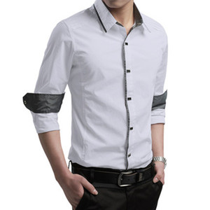 Мужская рубашка мужская площадь с длинным рукавом тонкий рубашка мужская сплошной цвет хлопок мода бизнес повседневная формальные рубашки