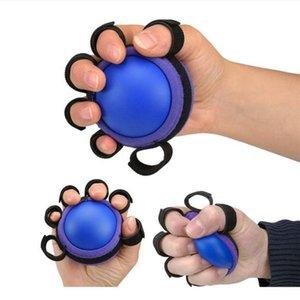 PU main Grip billes doigt exercice pratique Muscle Puissance en caoutchouc bleu formation Gripper Fitness exercice Party Poignées Faveur OOA8054