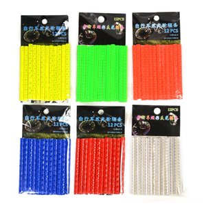 12Pcs Bicycle Bicycle Accessories Cycling Lights Wheel Rim Spoke Clip Tube Safety Warning Light Cycling Bike Strip Reflective Reflector Bicy
