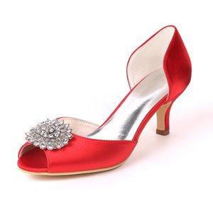 Creativesugar élégant talons chaton 2 pouces D'mariage chaussures habillées de soirée satin orsay cristal mariée partie des pompes à cocktail de bal
