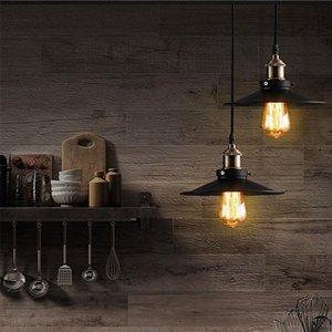 Moderno pendente Retro Luce penant lampada Nordic Ferro paralume Loft Edison hangLamp Sala da pranzo della lampada soggiorno