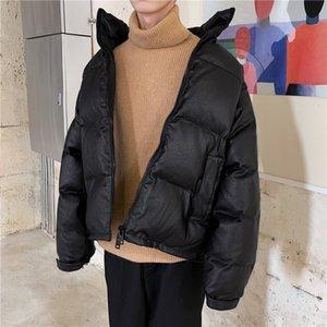 Thick Inverno Leather Jacket Quente cor sólida suporte Casual Casaco de couro Collar Moda homem selvagem solto Motorcycle Jacket Men