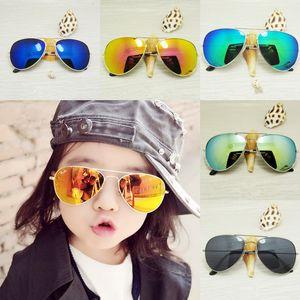 Kid Sonnenbrille Kinder Strand Sonnenbrillen UV 400 Mode-Accessoires Sonnenschutz Brillen-Baby für Junge Mädchen Vorzelt Kinder Brillen