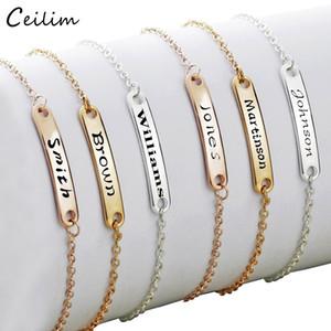 Bracelet en acier inoxydable sur mesure Fille Garçon personnalisé enfant ID réglable Bracelet d'anniversaire Cadeaux personnalisés Can Nom ID initial Bracelet à breloques