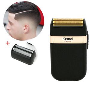 Kemei rasoir électrique pour homme double lame étanche sans fil rasoir USB Reciprocating rechargeable rasage machine Barber Trimmer swWKI