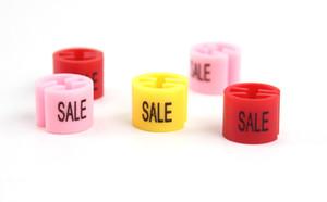 Cabides de Marcador de Tamanho de Venda de plástico tamanho cubo clipes VENDA sinal cabide sizer etiqueta etiqueta sinal tag informações marcadores de tamanho
