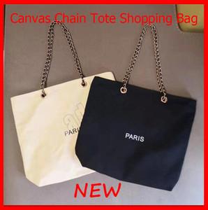 2020 새로운 패션 디자인 단색 캔버스 체인 토트 쇼핑 핸드백 캐주얼 클래식 여성 메이크업 가방 무료 배송