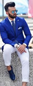Mr. Fashion Royal Blue Men Anzüge mit weißen Hosen Weding Anzüge für Herren Kostüm homme (Jacket + Pants).
