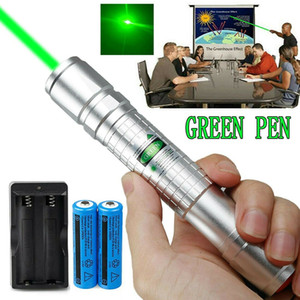 Astronomi Öğretim Güçlü Yeşil Lazer Kalem Pointer 5mw 532nm Görünür Işın Askeri Yeşil Lazer Kalem + 18.650 Pil + Şarj